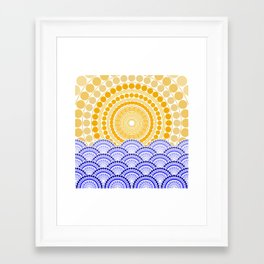 LIGHT OF DAWN (abstract tropical) Framed Art Print