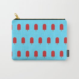 Red Popsicles - Blue Background Carry-All Pouch