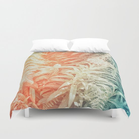 Fern and Fireweed 02 - Retro Duvet Cover