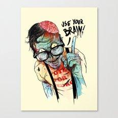 Use your brain Canvas Print