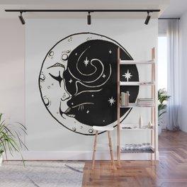 Moon Cat Wall Mural