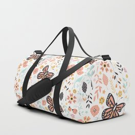 Flowers and butterflies pattern 001 Duffle Bag