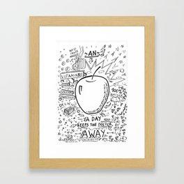 An apple a day keeps the doctor away Framed Art Print