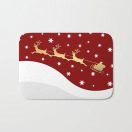 Red Christmas Santa Claus Bath Mat