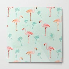 Vintage Flamingos Metal Print