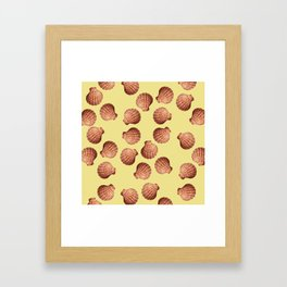 Yellow Big Clam pattern Illustration design Framed Art Print