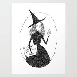 Ghost Witch Art Print