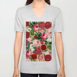 rose bushes Unisex V-Neck