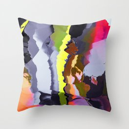 Neon flashing in Throw Pillow
