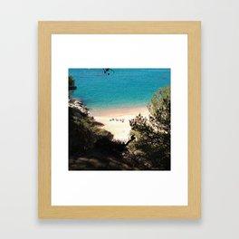 crystalline waters Framed Art Print