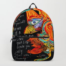 Live your dreams Street Art Graffiti African Backpack