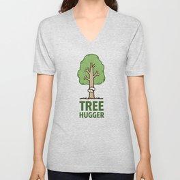 Tree Hugger Graphic Unisex V-Neck