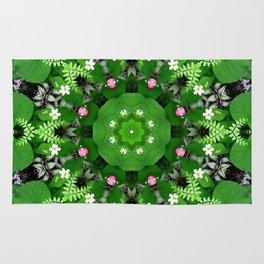 Fern and friends kaleidoscope, mandala - Maidenhair, Adiantum 899 kal 15 s6-4 Rug