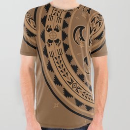 Bear Spirit (Brown) All Over Graphic Tee