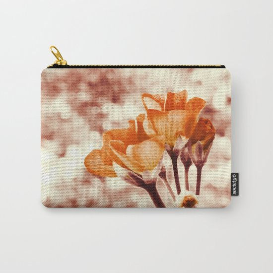Golden Flowers Carry-All Pouch