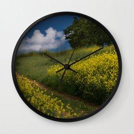 Almaden Meadows' Mustard Blossoms Wall Clock