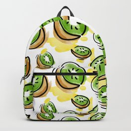 Watercolored Kiwi Backpack