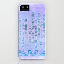 """' Take him and cut him out in little Stars"""" Romeo & Juliet - Shakespeare Love Quotes iPhone Case"""
