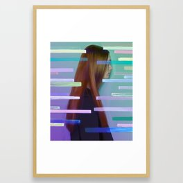 Show me where you fit Framed Art Print