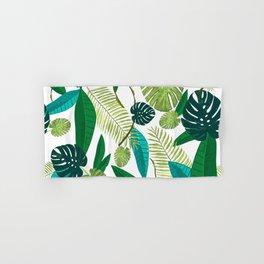 Tropical Green Leaves Hand & Bath Towel