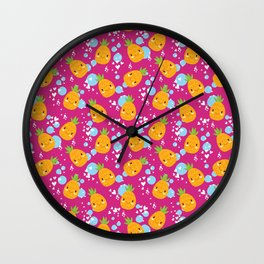 Funny Pineapples 4 Wall Clock