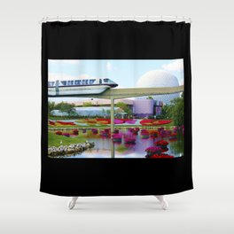 Epcot Icons Shower Curtain