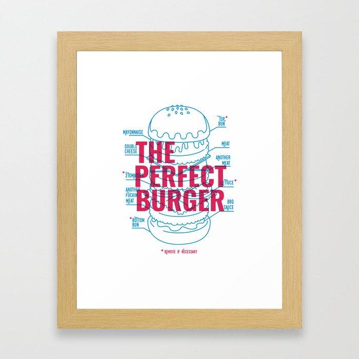 The Perfect Burger Framed Art Print