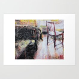 The Chair Waits Art Print