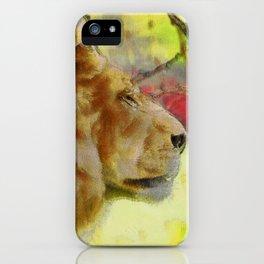 """The King"" Big Cat Lion Artwork iPhone Case"