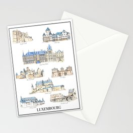Luxembourg Castles Stationery Cards
