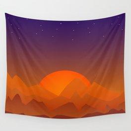 Slumbering Hills, Southwestern Landscape Art Wall Tapestry