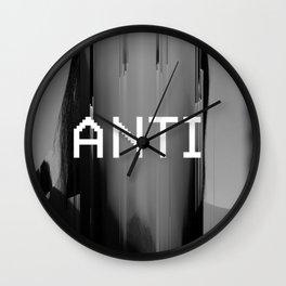 ANTI by RIHANNA [distorted] Wall Clock