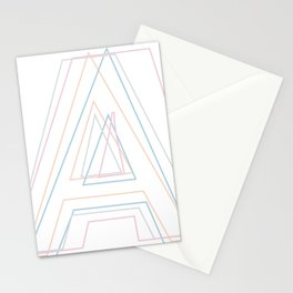 Intertwined Strength and Elegance of the Letter A Stationery Cards