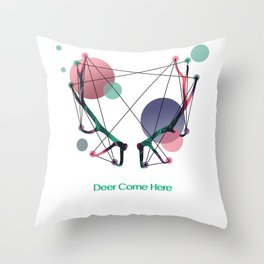 Deer Come Here Throw Pillow