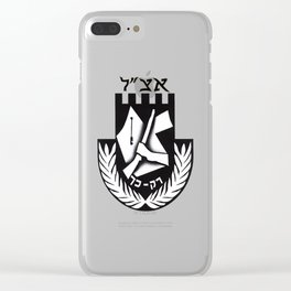 The Irgun Logo Clear iPhone Case