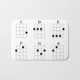Ukulele chord 6 Bath Mat