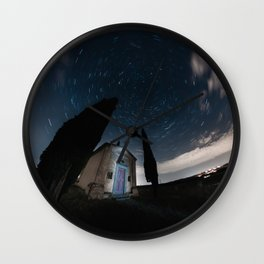 Star Trails in Tuscany Wall Clock