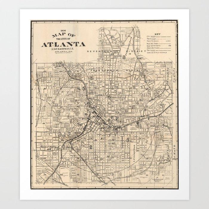 1906 Map of Atlanta, GA Art Print by amy1oowho Map Atlanta Ga on map of atlanta neighborhoods, map chicago il, map amarillo tx, map washington dc, map birmingham al, map orlando fl, map montgomery al, map louisville ky, map miami fl, map seattle wa, map atlantic city nj, map charlotte nc, map annapolis md, map fayetteville nc, map new orleans la, map dallas tx, map atlanta tn, map pittsburgh pa, map boston ma, map nashville tn,