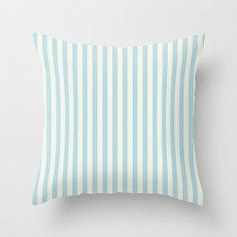 Blue Plume Glass Green Stripe Throw Pillow