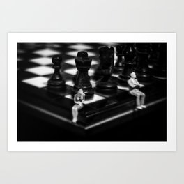 Make a Move Already from the Game of Life Series Chess Art Print