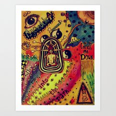 Spread the color Art Print