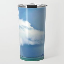 Thunderstorm over Mont St Michel France Travel Mug