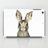 wildlife iPad Cases featuring Little Rabbit by Amy Hamilton