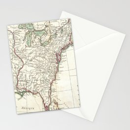 Thirteen Colonies Vintage Map (1776) Stationery Cards