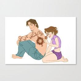 Henna Doodles Canvas Print