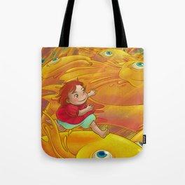 Flight of the Goldfish Tote Bag