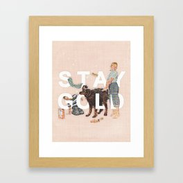 Stay Gold Framed Art Print