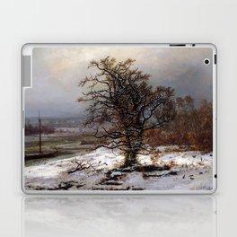 Johan Christian Dahl Oak Tree by the Elbe Winter Laptop & iPad Skin