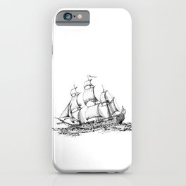 sailing ship . Home decor Graphicdesign iPhone Case
