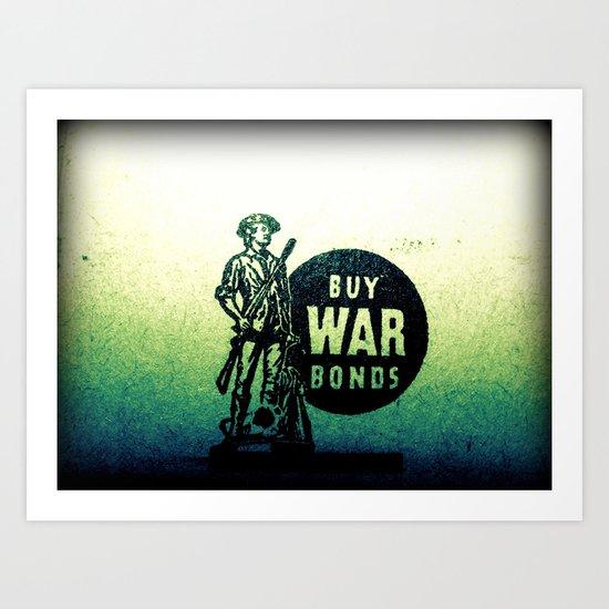 Buy War Bonds Art Print